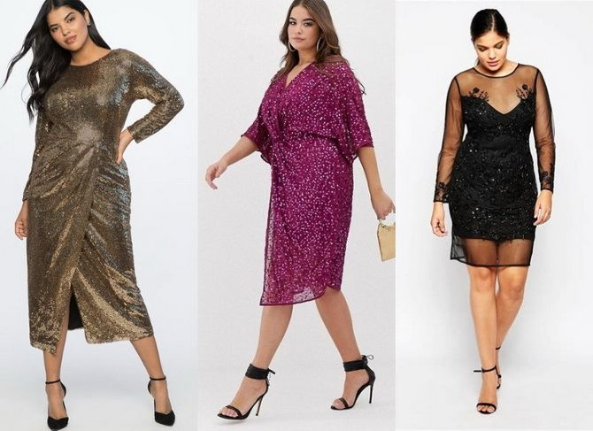 платья на новый год для полных женщин