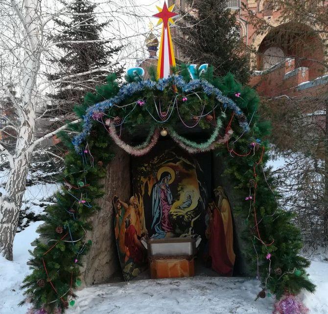 рождественский вертеп рисунок