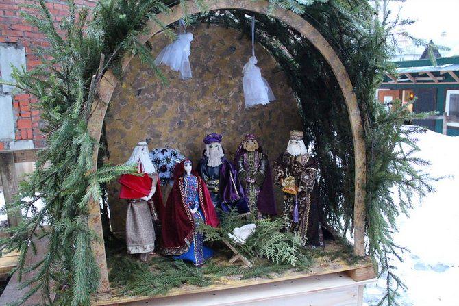 рождественский вертеп мастер класс