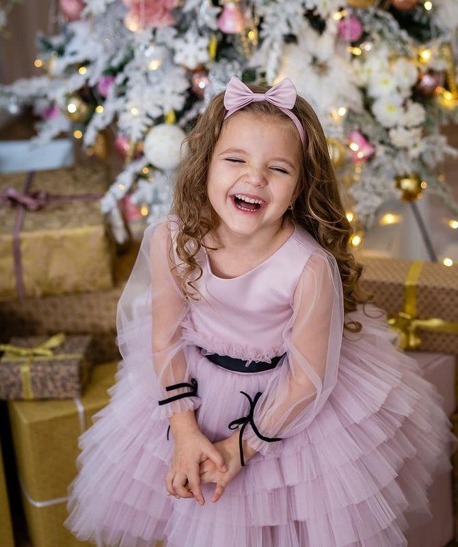 детское белое платье на новый год
