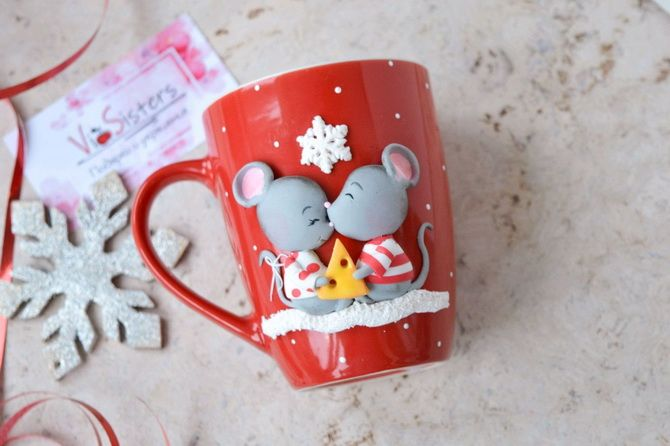 чашка с мышками