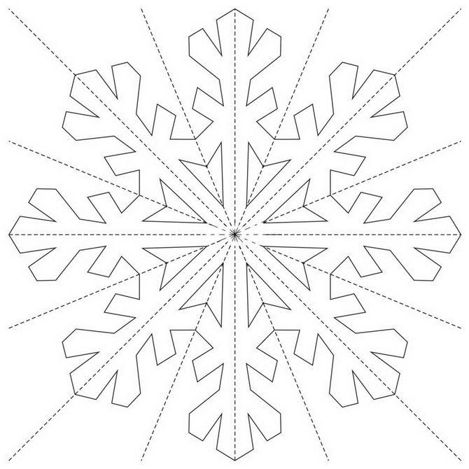 вытынанки снежинки