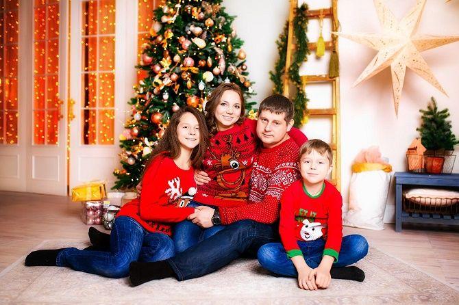 образи для новорічної фотосесії фемілі лук