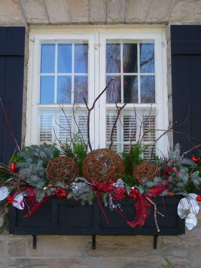 украсить окна к новому году в детском