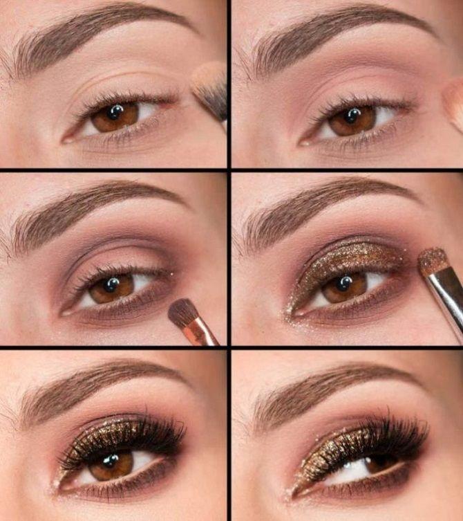 новогодний макияж для карих глазинструкция