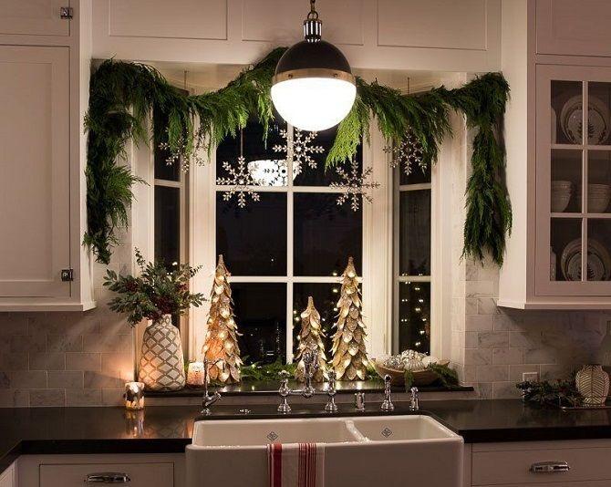 Як прикрасити вікна до Нового року 2021: варіанти розкішного декору своїми руками 6