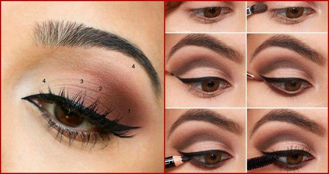 макияж для карих глаз на новый год пошагово