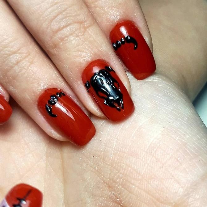 Красный маникюр на Новый год: лучшие идеи яркого дизайна ногтей 1