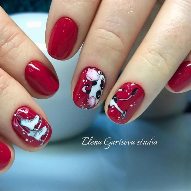 Червоний манікюр на Новий рік: кращі ідеї яскравого дизайну нігтів 2