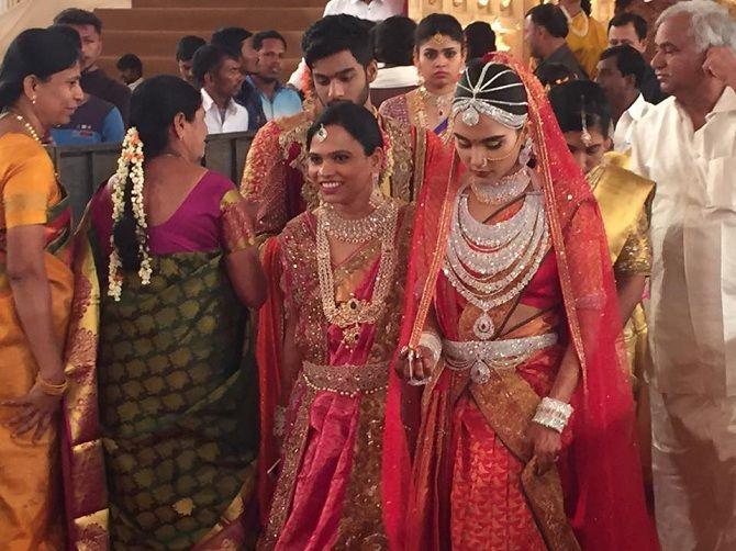 свадьба  Брахмани Редди и Раджив Редди