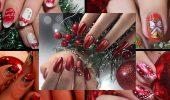 Червоний манікюр на Новий рік: кращі ідеї яскравого дизайну нігтів