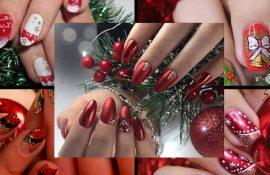 Красный маникюр на Новый год: лучшие идеи яркого дизайна ногтей