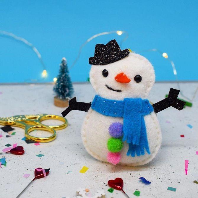 снеговик своими руками на новый