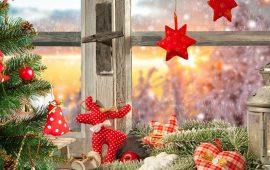 украсить новогоднее окно