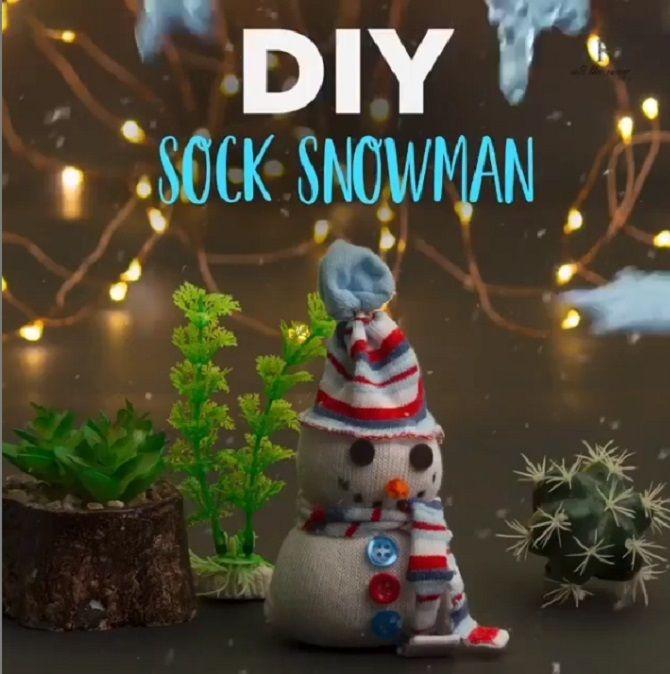 как сделать снеговика своими руками