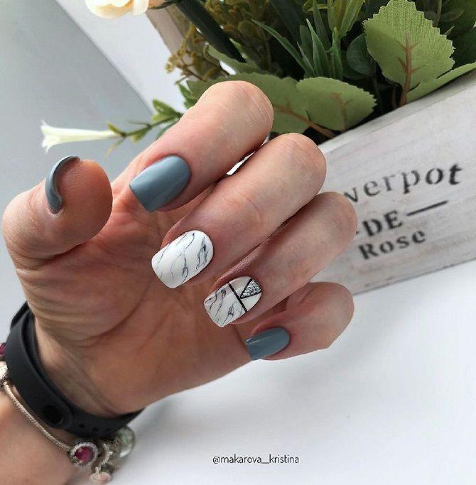 идея модного маникюра на короткие ногти