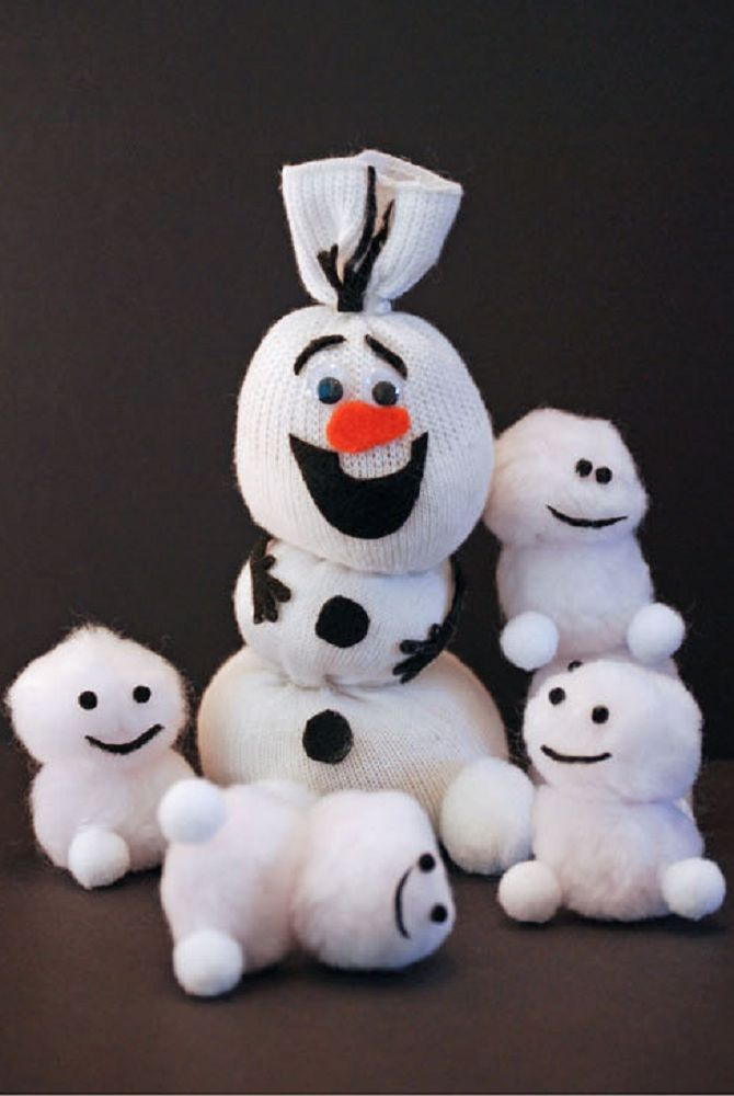 снеговик олаф своими руками пошагово