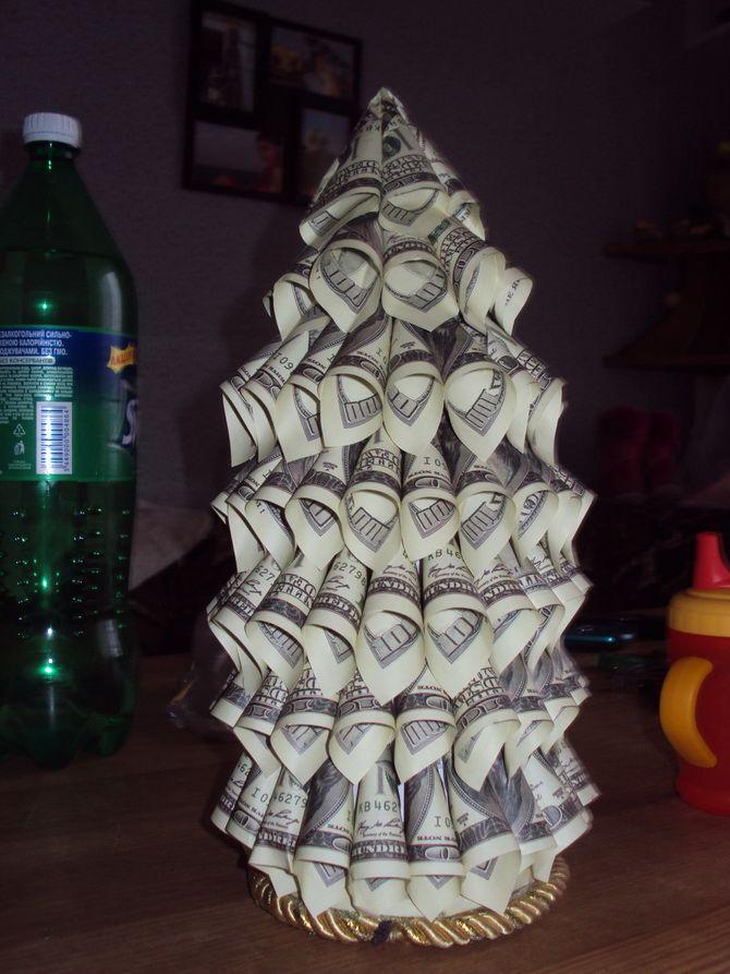 елка из денег своими руками
