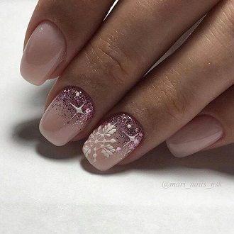 Новогодний маникюр 2021 на короткие ногти: новые варианты на любой вкус 9