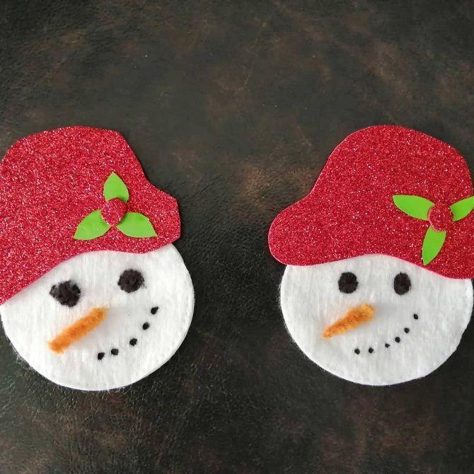 простые снеговички своими руками из фетра