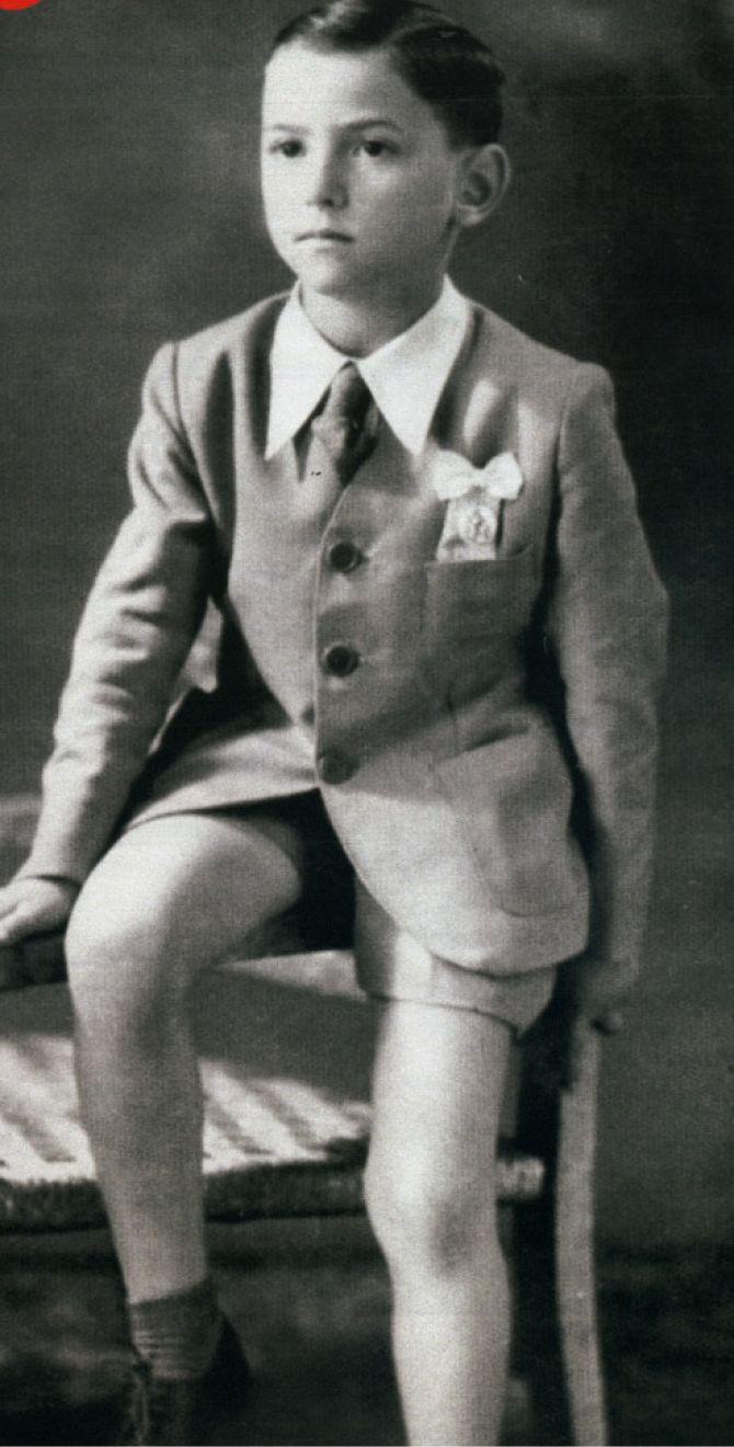 Сильвио Берлускони в детстве