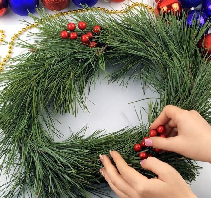 Різдвяний вінок покроково: