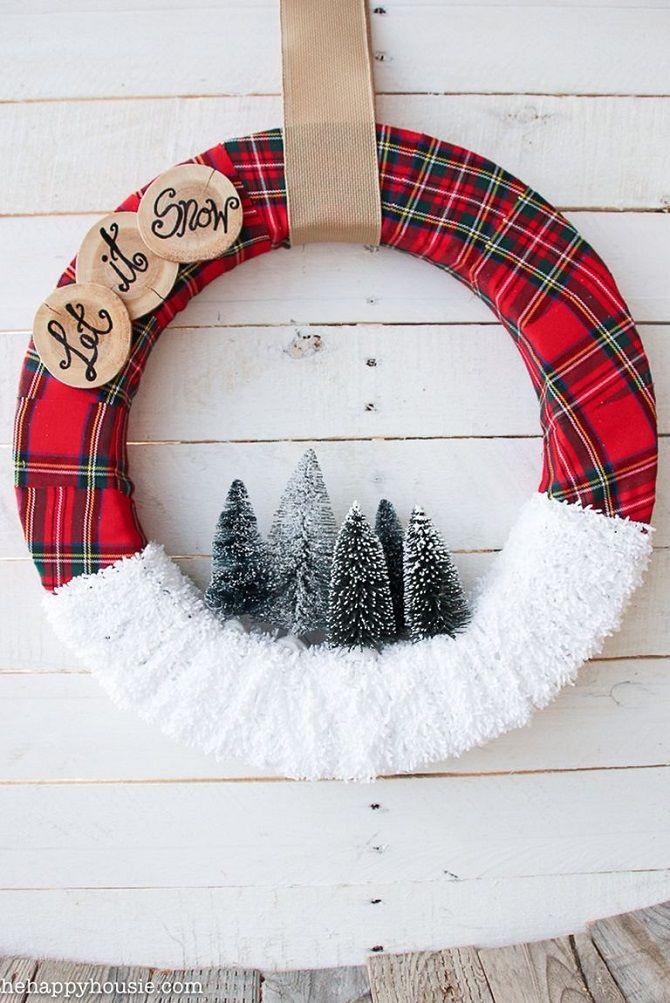 Рождественский венок своими руками: 5 стильных новогодних декоров 7