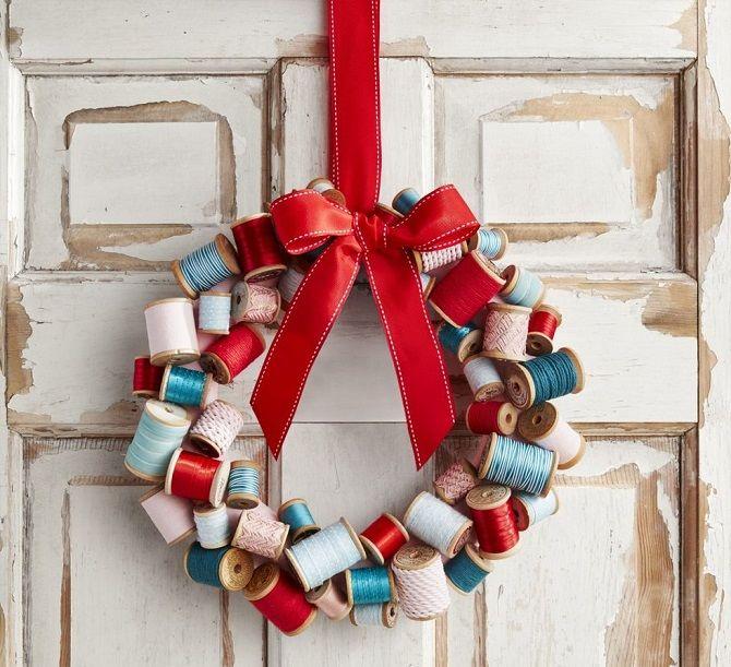 Рождественский венок своими руками: 5 стильных новогодних декоров 2