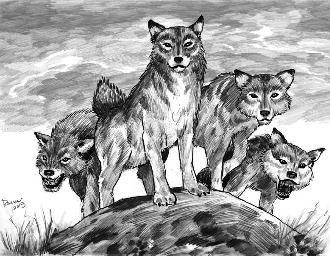 доисторические волки