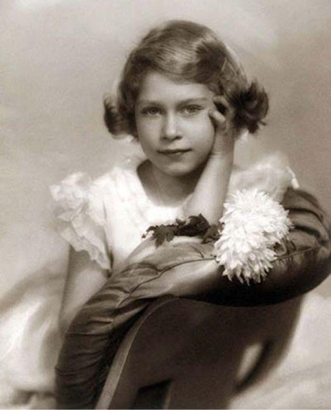 Елизавета Вторая, королева Великобритании в детстве