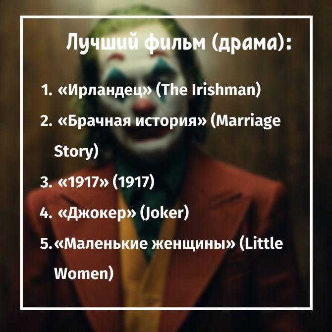 золотой глобус лучшая драма