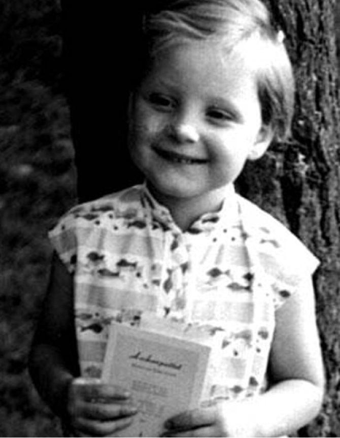 Ангела Меркель детские фото