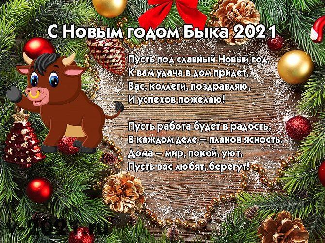 Смешные поздравления на Новый год 2021 в картинках 2