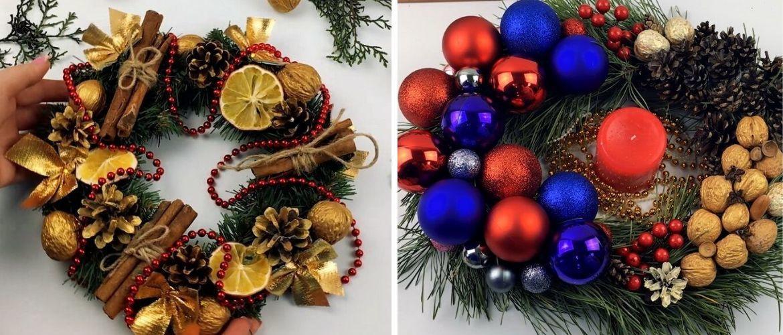 Рождественский венок своими руками: 5 стильных новогодних декоров