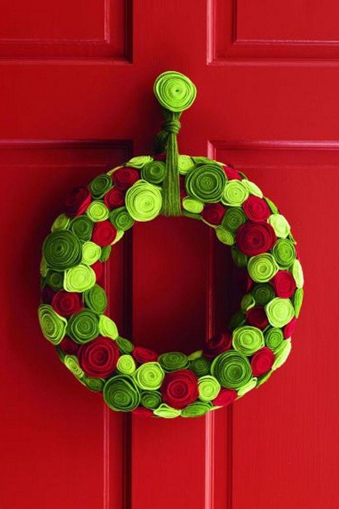 Рождественский венок своими руками: 5 стильных новогодних декоров 10