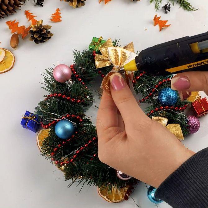 рождественский венок мастер