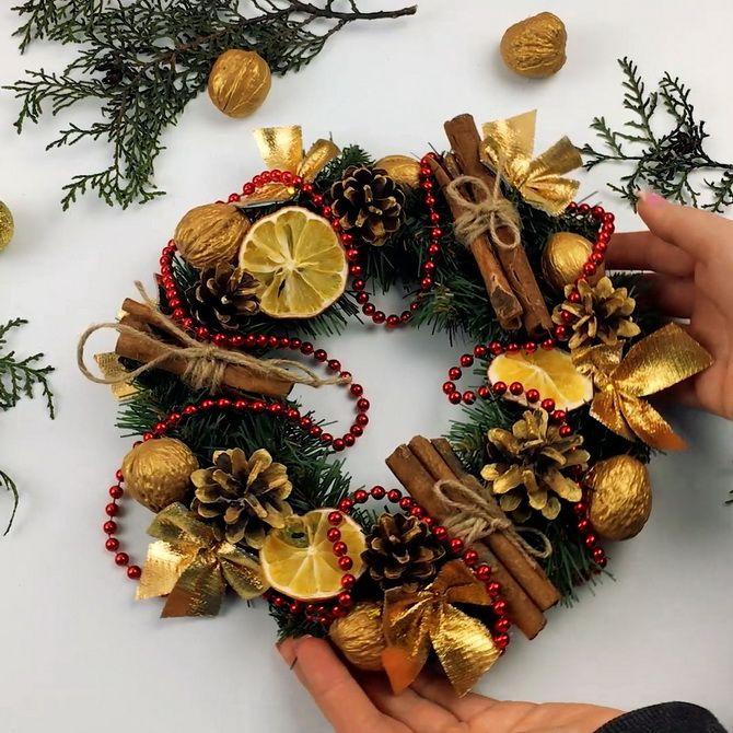 новогодние венки пошагово