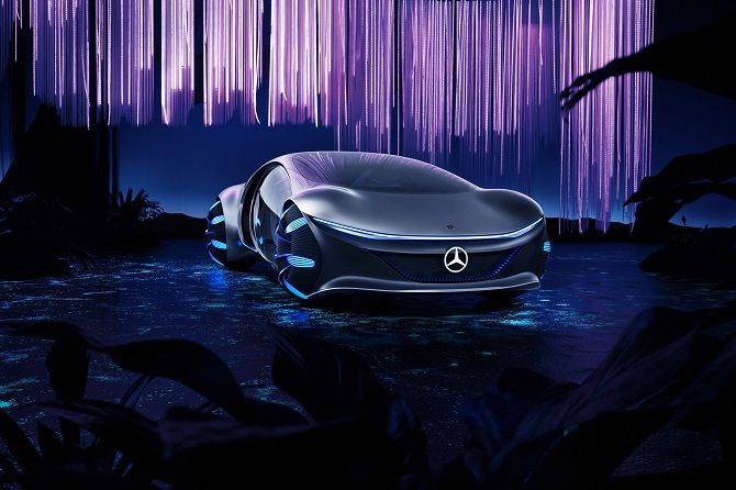 Это нереально! Mercedes-Benz создал футуристический автомобиль в стиле фильма «Аватар» 1