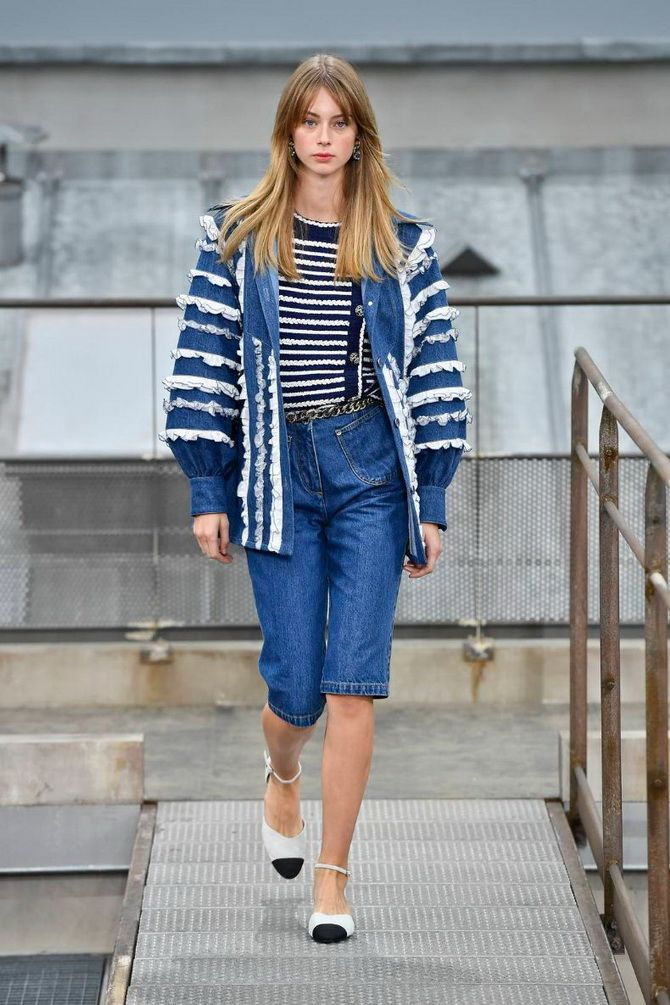 Denim and Bermuda shorts