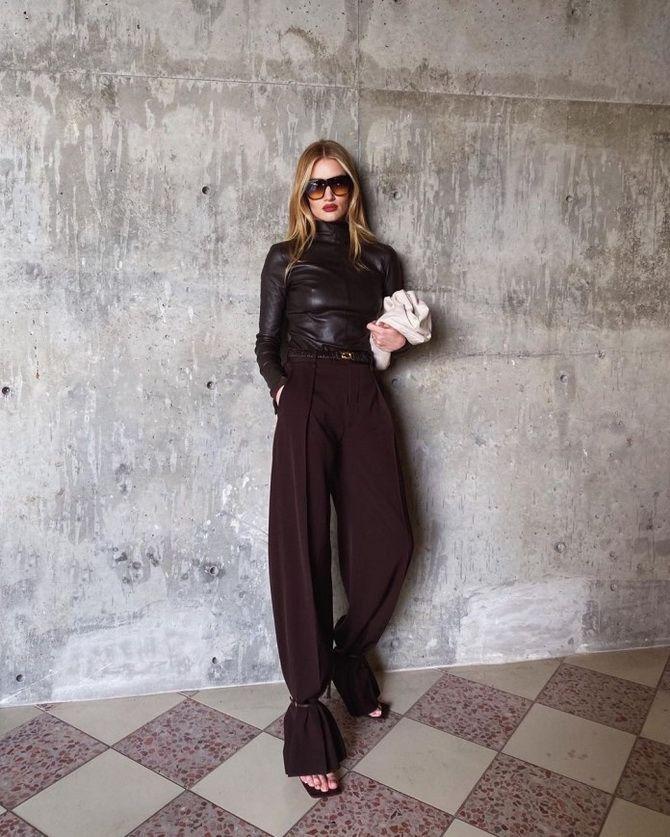 брюки женские бордовые