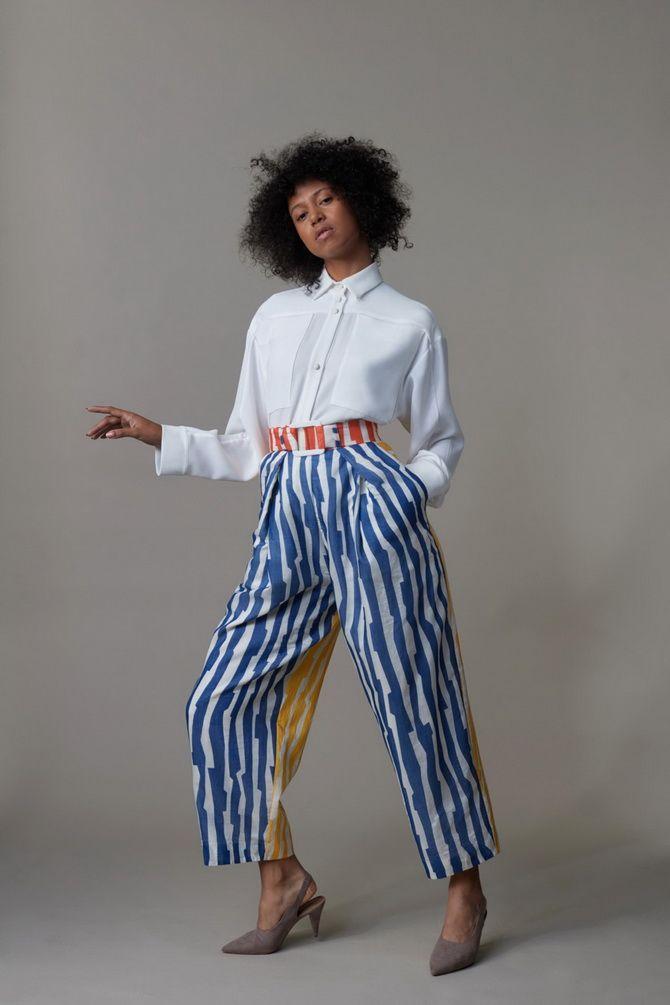 брюки женские в полоску