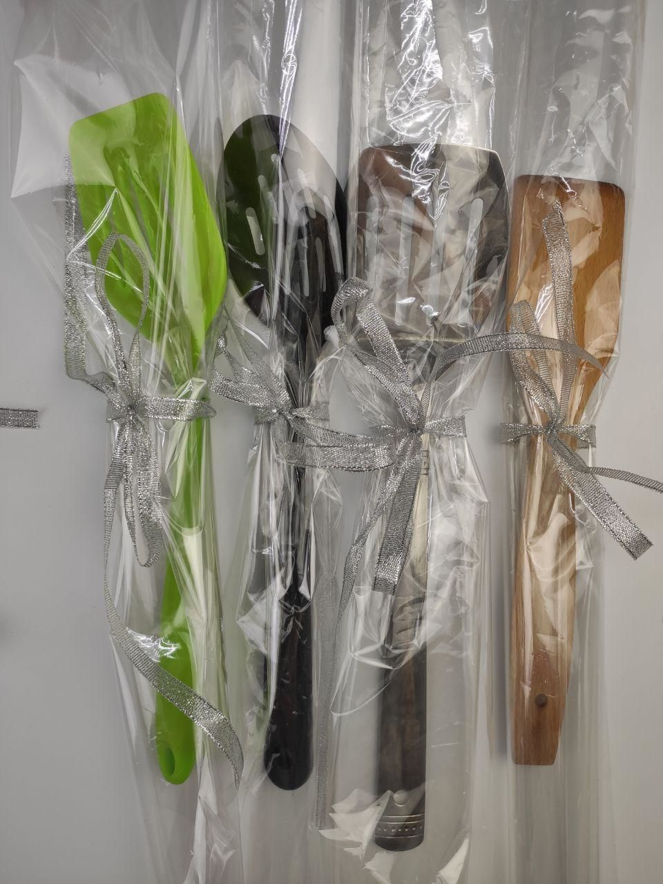 ladles in cellophane