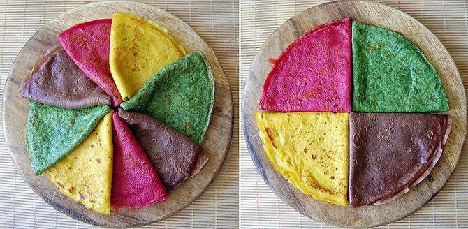 разноцветные блины