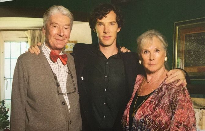 Бенедикт Камбербэтч з батьками