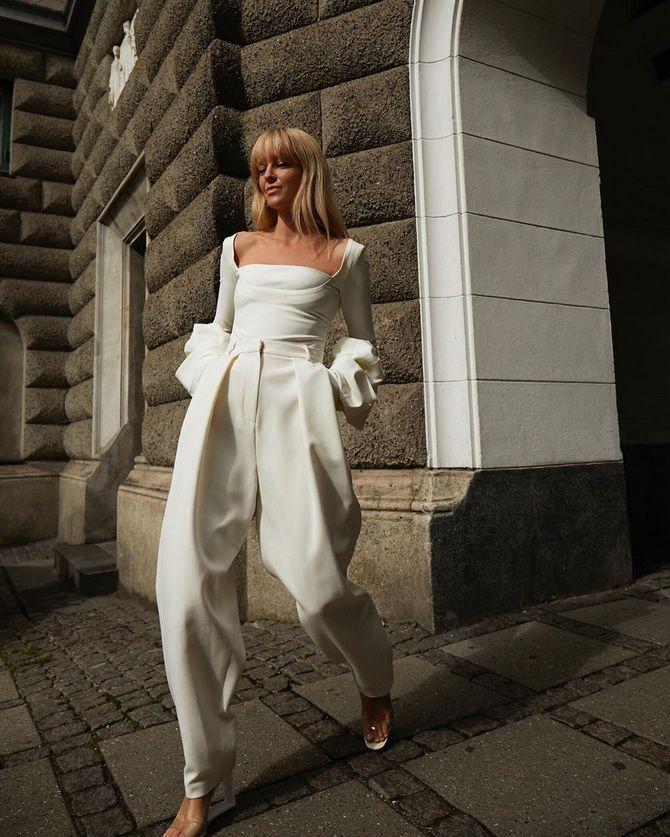 белые женские брюки