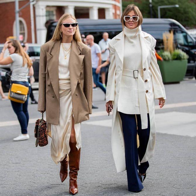 женское белое пальто