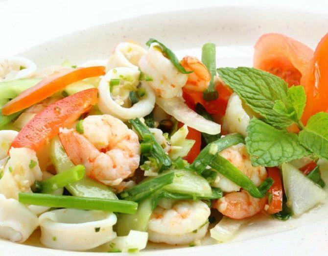 рецепти салатів з креветками