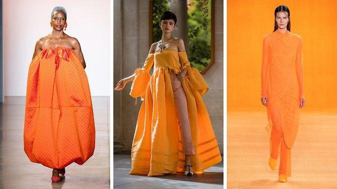 апельсиновое платье