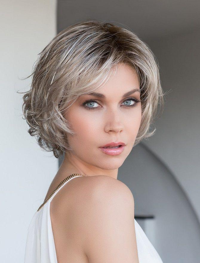 Short haircuts for women: cascade