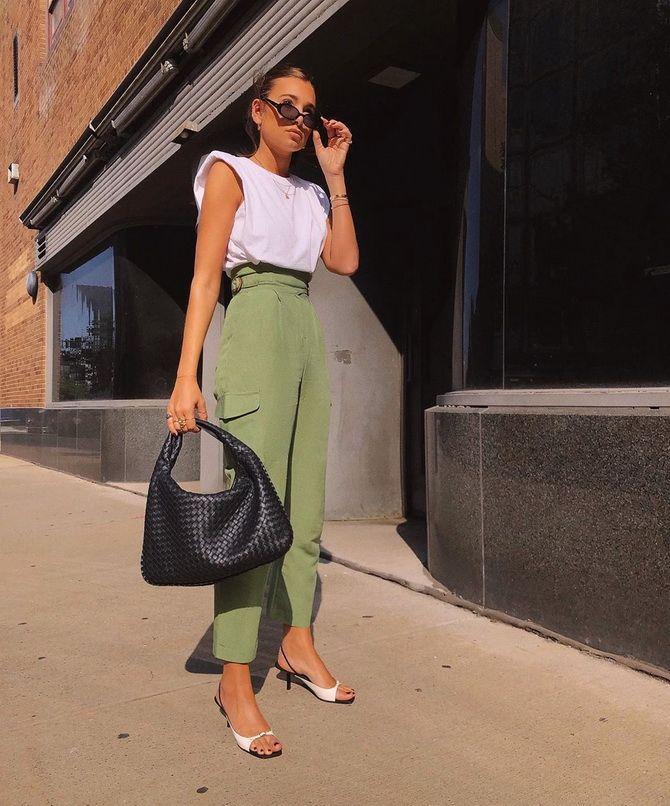 брюки Карго зеленые